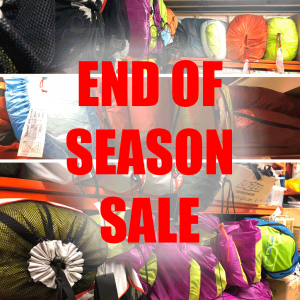 End of season sale of demo and new old stock gliders