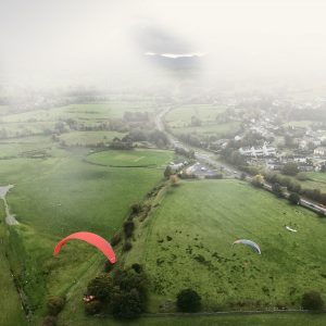UK Airsports Paragliding in the Rain image