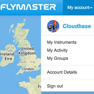 UK Airsports flymaster My Account