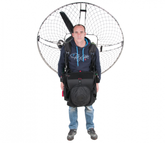 GIN Paramotor Cocoon ready for take off.