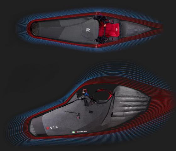 GIN Genile Lite 3 paragliding pod harness aerodynamic