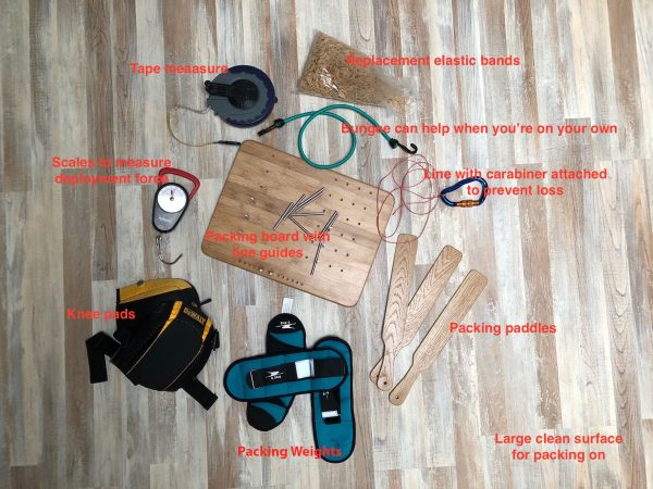 UK Airsports Reserve packing tools