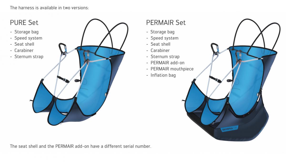 Skywalk CORE modular ultralight harness