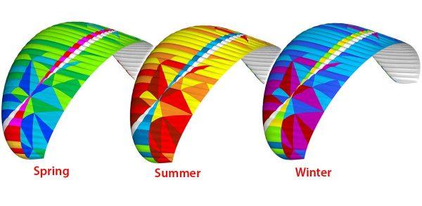BGD EPIC paraglider colours
